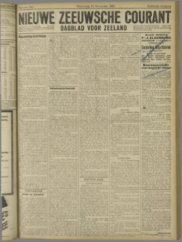 Nieuwe Zeeuwsche Courant 1920-11-10