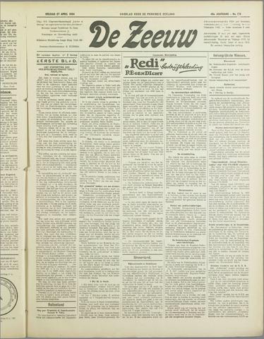 De Zeeuw. Christelijk-historisch nieuwsblad voor Zeeland 1934-04-27