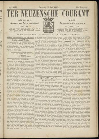 Ter Neuzensche Courant. Algemeen Nieuws- en Advertentieblad voor Zeeuwsch-Vlaanderen / Neuzensche Courant ... (idem) / (Algemeen) nieuws en advertentieblad voor Zeeuwsch-Vlaanderen 1880-07-03