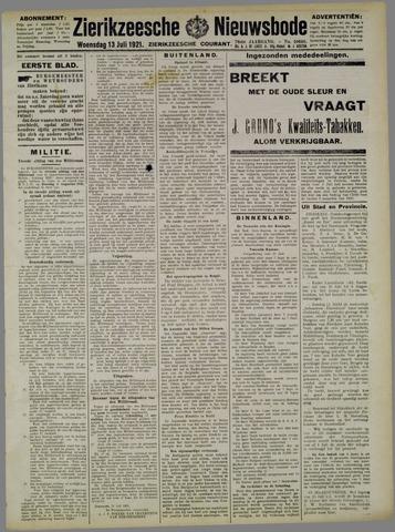 Zierikzeesche Nieuwsbode 1921-07-13