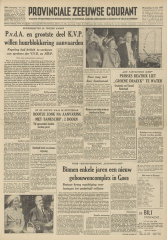 Provinciale Zeeuwse Courant 1957-06-05