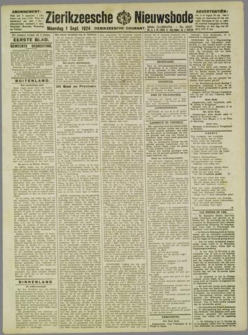 Zierikzeesche Nieuwsbode 1924-09-01