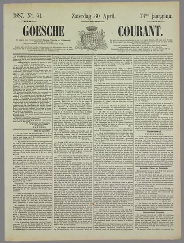 Goessche Courant 1887-04-30
