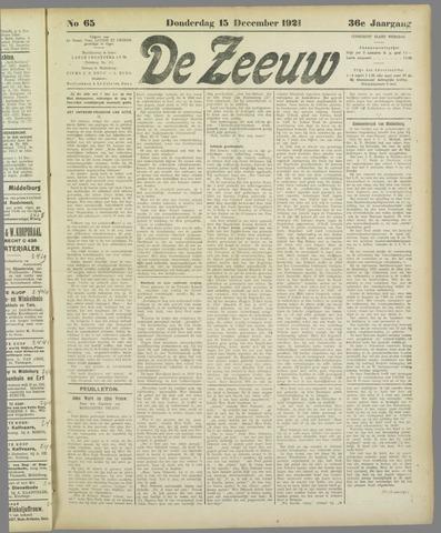 De Zeeuw. Christelijk-historisch nieuwsblad voor Zeeland 1921-12-15