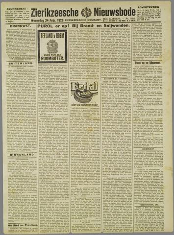Zierikzeesche Nieuwsbode 1926-02-24