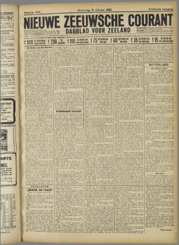 Nieuwe Zeeuwsche Courant 1922-10-18