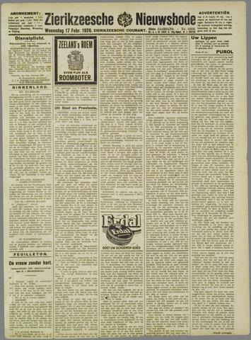 Zierikzeesche Nieuwsbode 1926-02-17