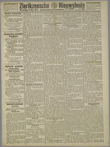 Zierikzeesche Nieuwsbode 1917-11-14