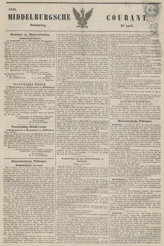 Middelburgsche Courant 1852-04-29