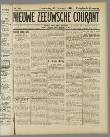 Nieuwe Zeeuwsche Courant 1918-02-14