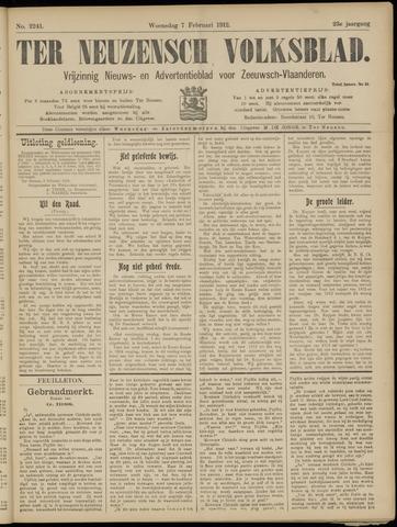Ter Neuzensch Volksblad. Vrijzinnig nieuws- en advertentieblad voor Zeeuwsch- Vlaanderen / Zeeuwsch Nieuwsblad. Nieuws- en advertentieblad voor Zeeland 1912-02-07