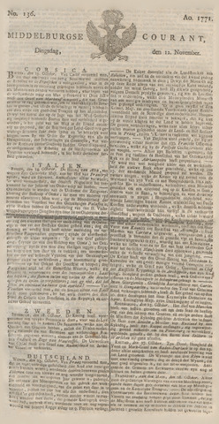 Middelburgsche Courant 1771-11-12