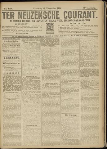Ter Neuzensche Courant. Algemeen Nieuws- en Advertentieblad voor Zeeuwsch-Vlaanderen / Neuzensche Courant ... (idem) / (Algemeen) nieuws en advertentieblad voor Zeeuwsch-Vlaanderen 1915-11-27