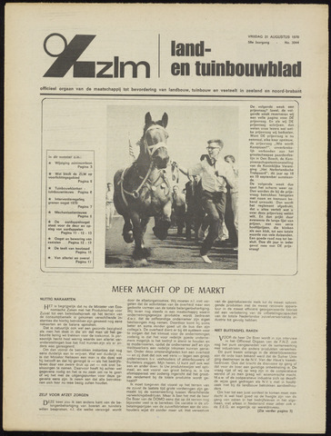 Zeeuwsch landbouwblad ... ZLM land- en tuinbouwblad 1970-08-19