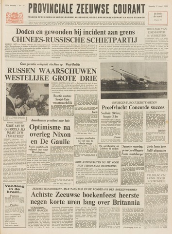 Provinciale Zeeuwse Courant 1969-03-03