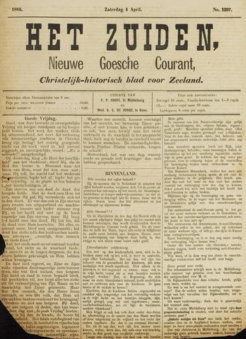 Het Zuiden, Christelijk-historisch blad 1885-04-04