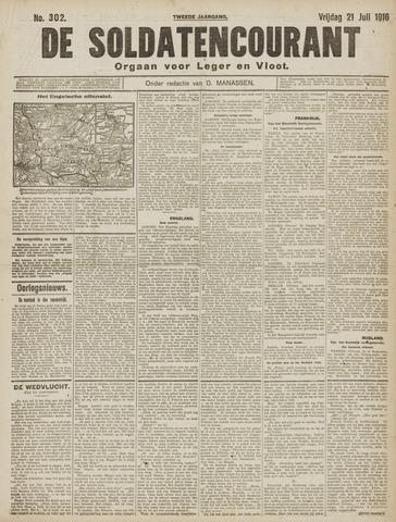 De Soldatencourant. Orgaan voor Leger en Vloot 1916-07-21