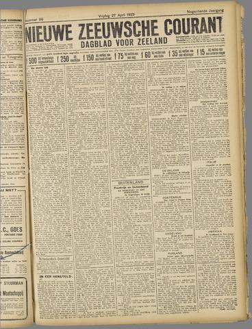 Nieuwe Zeeuwsche Courant 1923-04-27
