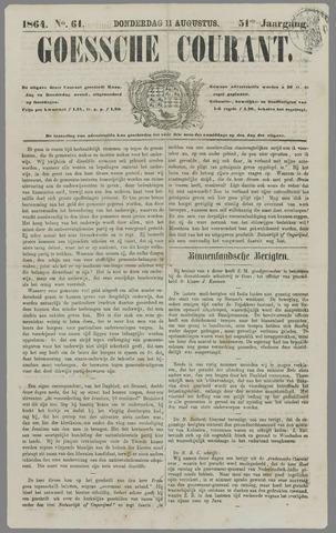 Goessche Courant 1864-08-11