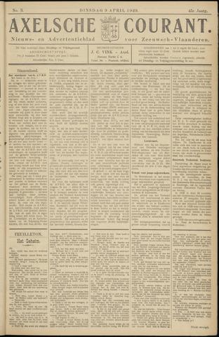 Axelsche Courant 1929-04-09