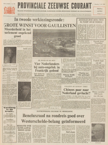 Provinciale Zeeuwse Courant 1968-07-01