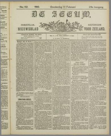 De Zeeuw. Christelijk-historisch nieuwsblad voor Zeeland 1910-02-10