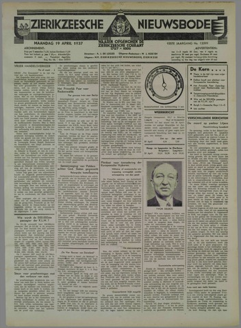 Zierikzeesche Nieuwsbode 1937-04-19