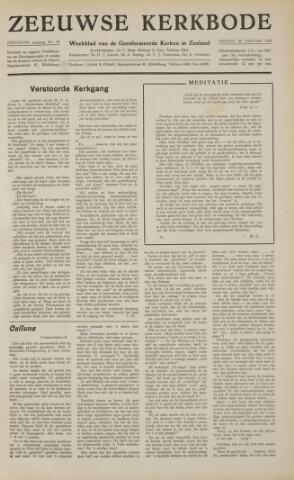 Zeeuwsche kerkbode, weekblad gewijd aan de belangen der gereformeerde kerken/ Zeeuwsch kerkblad 1958-01-24