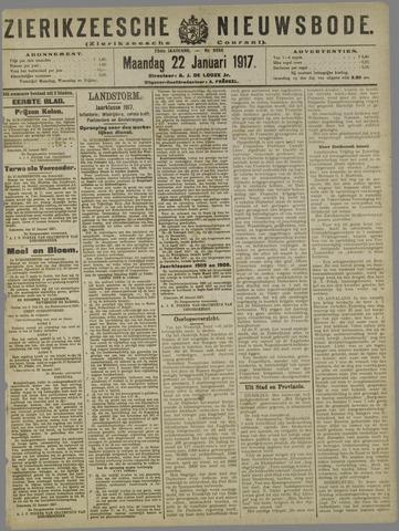 Zierikzeesche Nieuwsbode 1917-01-22
