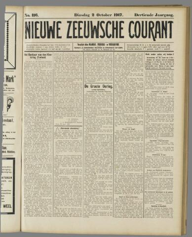 Nieuwe Zeeuwsche Courant 1917-10-02