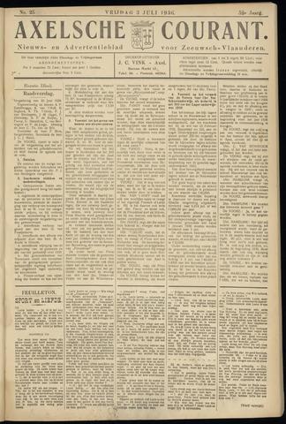 Axelsche Courant 1936-07-03