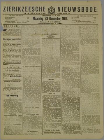 Zierikzeesche Nieuwsbode 1914-12-28