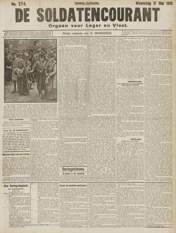 De Soldatencourant. Orgaan voor Leger en Vloot 1916-05-17
