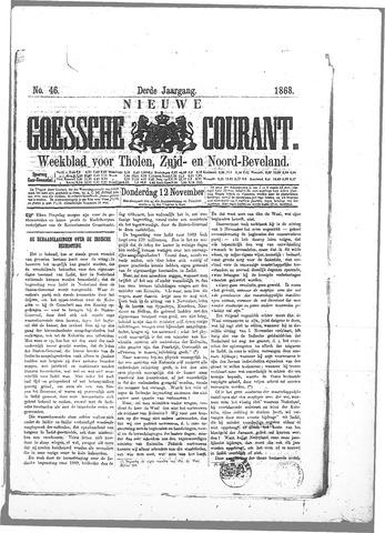 Nieuwe Goessche Courant 1868-11-12