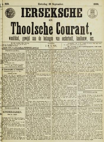 Ierseksche en Thoolsche Courant 1891-09-19