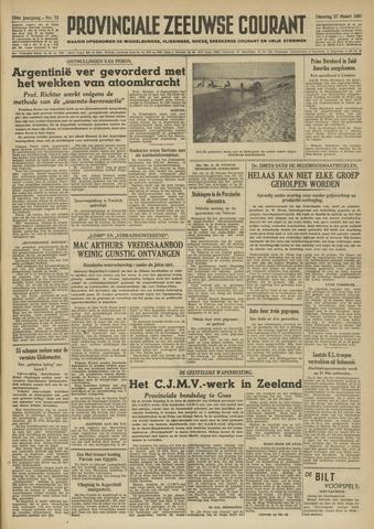 Provinciale Zeeuwse Courant 1951-03-27