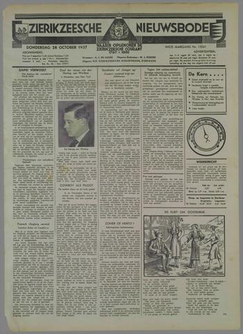 Zierikzeesche Nieuwsbode 1937-10-28