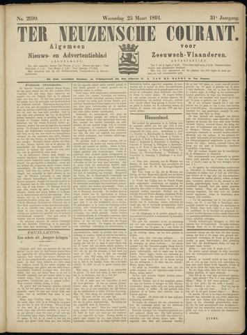 Ter Neuzensche Courant. Algemeen Nieuws- en Advertentieblad voor Zeeuwsch-Vlaanderen / Neuzensche Courant ... (idem) / (Algemeen) nieuws en advertentieblad voor Zeeuwsch-Vlaanderen 1891-03-25