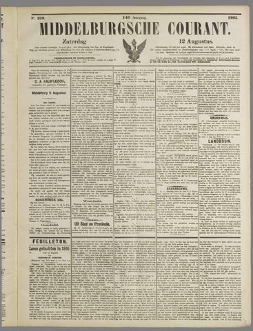 Middelburgsche Courant 1905-08-12