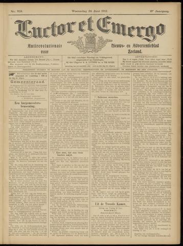 Luctor et Emergo. Antirevolutionair nieuws- en advertentieblad voor Zeeland / Zeeuwsch-Vlaanderen. Orgaan ter verspreiding van de christelijke beginselen in Zeeuwsch-Vlaanderen 1912-06-26