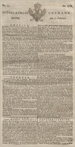 Middelburgsche Courant 1768-02-27
