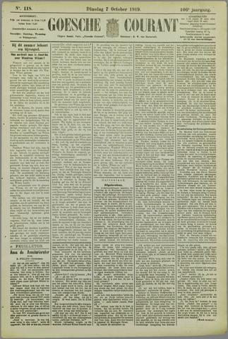 Goessche Courant 1919-10-07