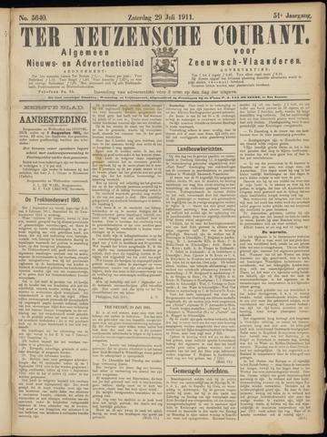 Ter Neuzensche Courant. Algemeen Nieuws- en Advertentieblad voor Zeeuwsch-Vlaanderen / Neuzensche Courant ... (idem) / (Algemeen) nieuws en advertentieblad voor Zeeuwsch-Vlaanderen 1911-07-29