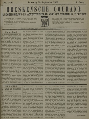 Breskensche Courant 1909-09-25