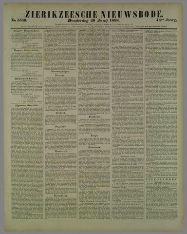 Zierikzeesche Nieuwsbode 1888-06-28