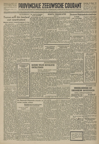 Provinciale Zeeuwse Courant 1946-03-16