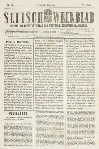 Sluisch Weekblad. Nieuws- en advertentieblad voor Westelijk Zeeuwsch-Vlaanderen 1873-09-02