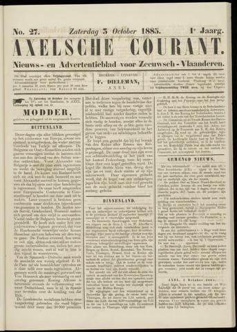 Axelsche Courant 1885-10-03