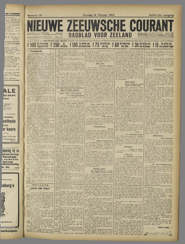 Nieuwe Zeeuwsche Courant 1922-02-14