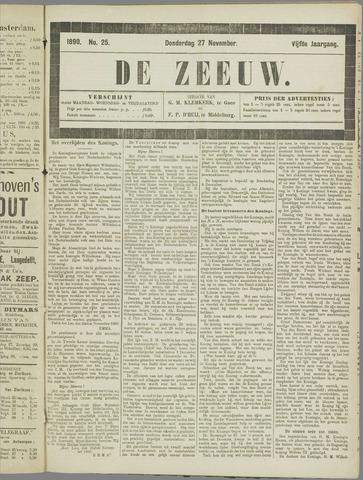 De Zeeuw. Christelijk-historisch nieuwsblad voor Zeeland 1890-11-27